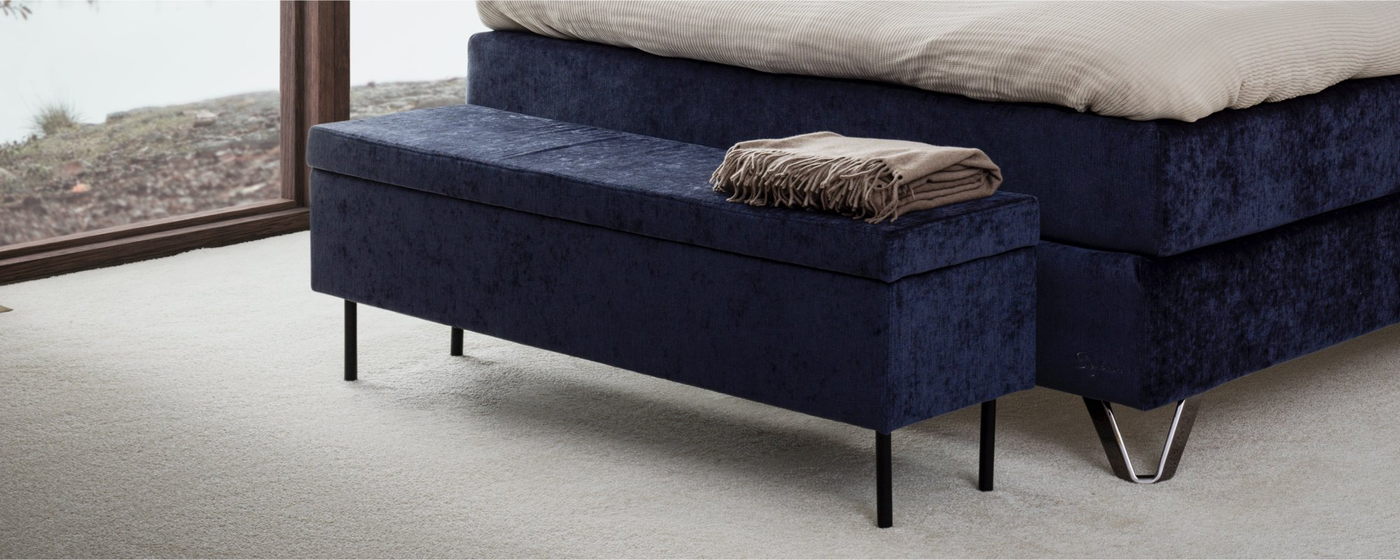 Add style to your bedroom with our Saturn Ottoman